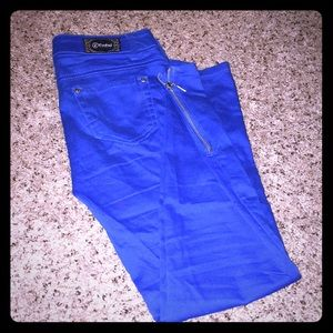 Blue skinny